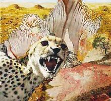 Desert with Gepard by Heinz Sterzenbach