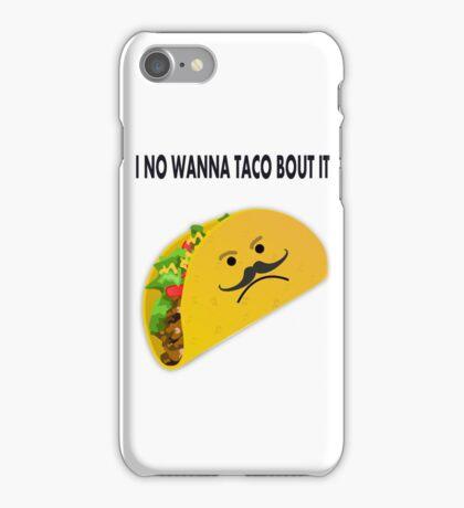 Taco Face Unhappy Pun iPhone Case/Skin
