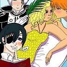 Juliet adored by Kyo Sohma, Allen walker, Ciel Phantomhive by Wendy Crouch