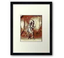 Chief American Horse, Sioux indian 1899 Framed Print