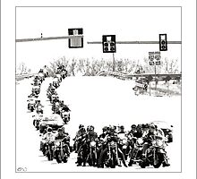 Biker Invasion by Don Bailey