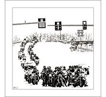 Biker Invasion Photographic Print