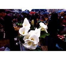 Outdoor market in Portugal Photographic Print