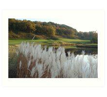 golfing in galena Art Print
