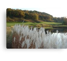 golfing in galena Canvas Print