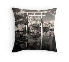 Japanese Gardens Throw Pillow