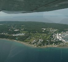 flight over mackinac island by cynthia  brown