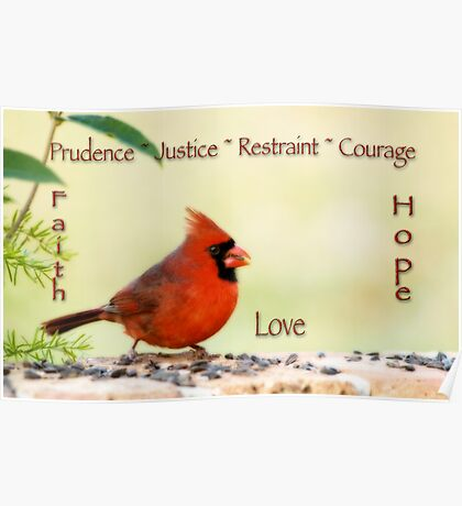 The Seven Cardinal Virtues Poster