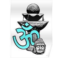 Buddha Om Fountain Poster