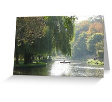 Willows and row-boats Greeting Card