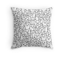 Sly cats Throw Pillow