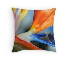 Macro - Bird Of Paridise Throw Pillow