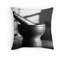 Mortar and Pestle Throw Pillow