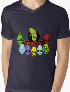 Oddword Abe's Oddysee 'This Is Rupture Farms' Mens V-Neck T-Shirt