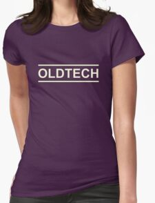 White Oldtech Womens Fitted T-Shirt