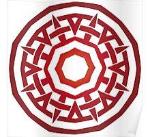 Wheel of Swords - Fire Poster