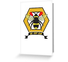 bee fight club Greeting Card
