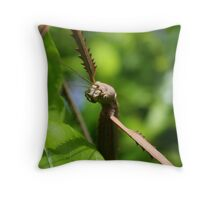 alien stick insect Throw Pillow
