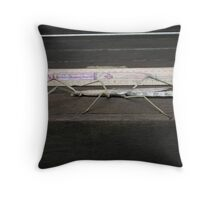 A big stick insect Throw Pillow