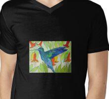 Humming Bird Mens V-Neck T-Shirt