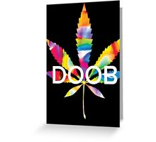 Trippy Doob Greeting Card