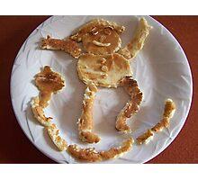 The Pancake Man Photographic Print