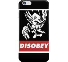 Vegeta Disobey iPhone Case/Skin