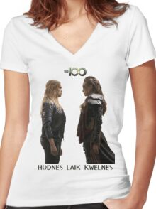 Clexa - Love is weakness Women's Fitted V-Neck T-Shirt