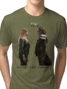 Clexa - Love is weakness Tri-blend T-Shirt