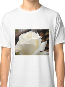 Close up of white rose 19 Classic T-Shirt