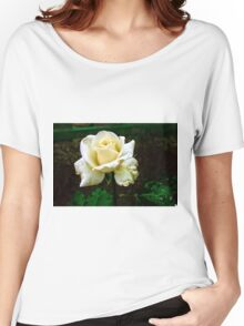 Little white rose 4 Women's Relaxed Fit T-Shirt