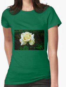 Little white rose 4 Womens Fitted T-Shirt