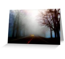 Distant Headlights Greeting Card