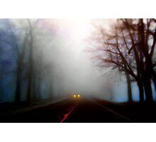 Distant Headlights Photographic Print