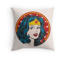 Princess Diana of Themyscira (Vintage) Throw Pillow