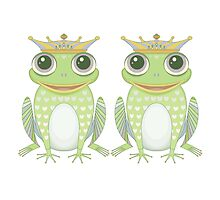 Two Frogs With Crowns by Jean Gregory  Evans