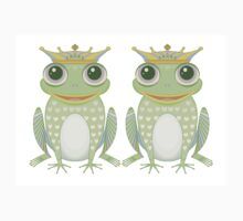 Two Frogs With Crowns Baby Tee