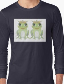 Two Frogs With Crowns Long Sleeve T-Shirt