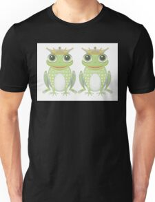 Two Frogs With Crowns Unisex T-Shirt