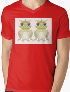 Two Frogs With Crowns Mens V-Neck T-Shirt