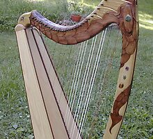 Dragon Harp by JDNarts
