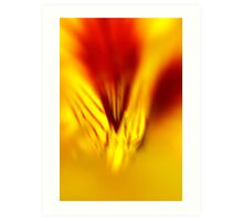 fluid fire Art Print