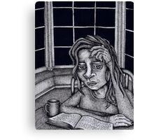 Tea Reader Canvas Print