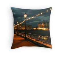 Eastbourne pier at twighlight Throw Pillow