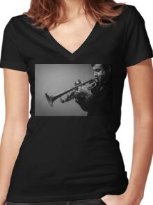 Papa Jazz Women's Fitted V-Neck T-Shirt