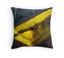 Big Yellow Cleat Throw Pillow