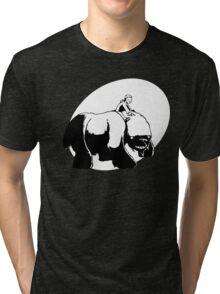 A Boy and His Monster Black Tri-blend T-Shirt