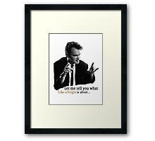 Reservoir Dogs - Like A Virgin Framed Print