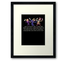 Aint no party like a timelord party! Framed Print