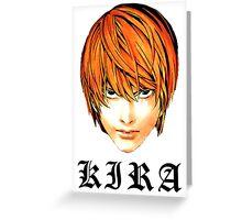 Kira - Death Note Greeting Card